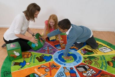 Recycling Carpet & Interactive Cube Set