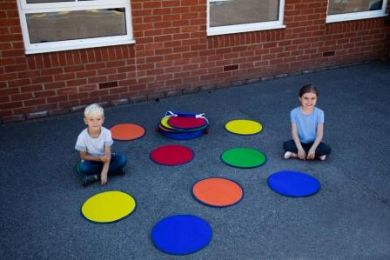Rainbow Circle Mats with holdall Set of 30