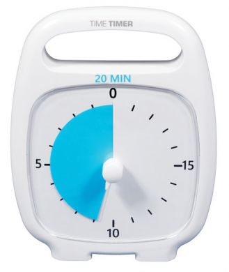 Time Timer Plus-20 mins WHITE